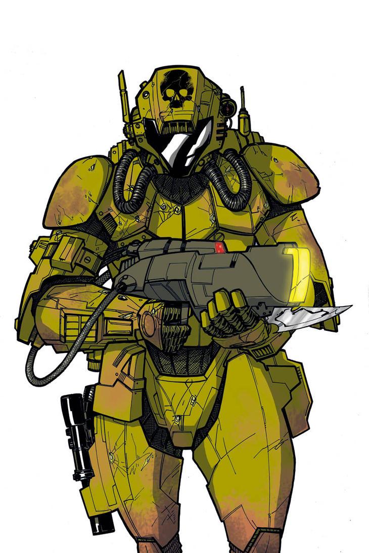 Hi Yech Soldier Target by Hodges-Art