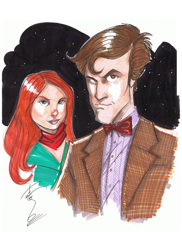 The 11th Doctor and Amy Pond by Hodges-Art