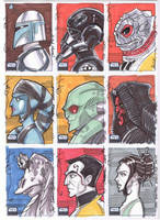 SW Galaxy 6 09 Sketch cards by Hodges-Art