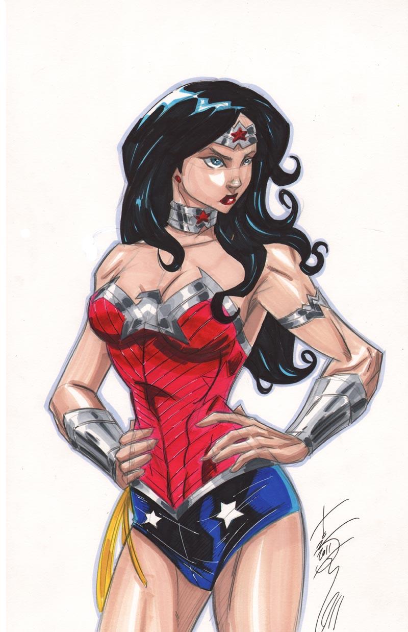 NEW JLA Wonder Woman by Hodges-Art