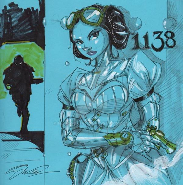 Steampunk Princess Leia Organa by Hodges-Art