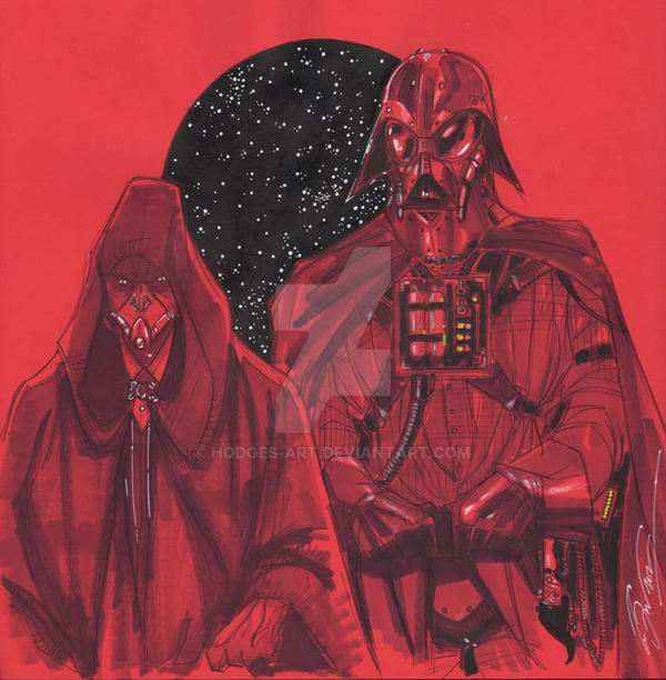 Emperor Palpatine and Dark Lord Vader by Hodges-Art