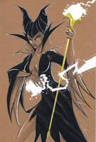 Maleficent WonderCon Sketch by Hodges-Art