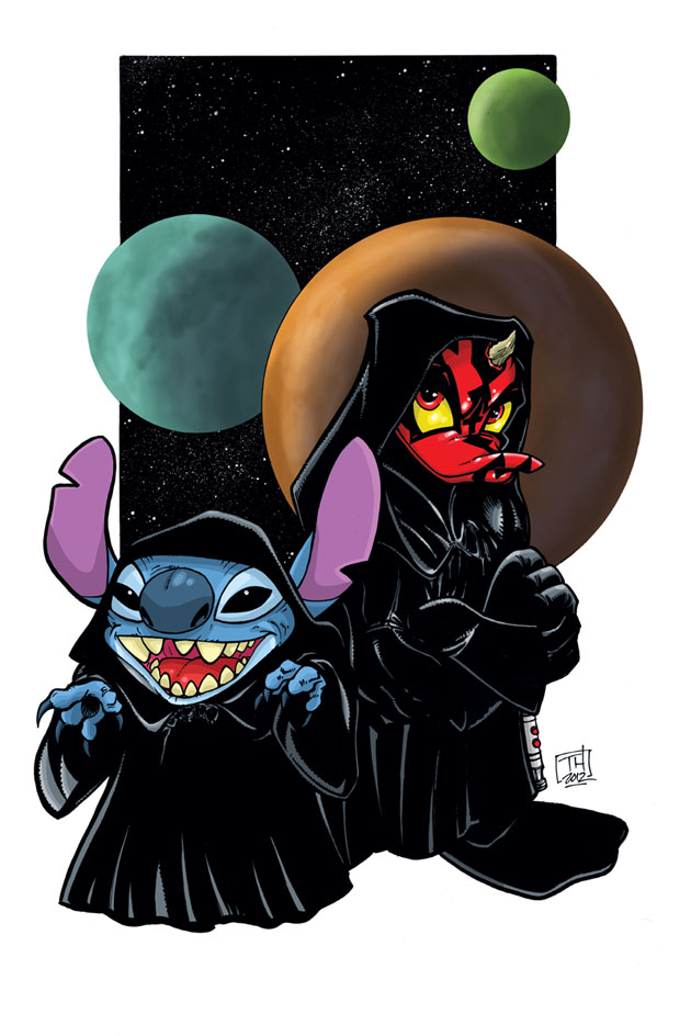 Darth Stitchious and Donald Maul by Hodges-Art
