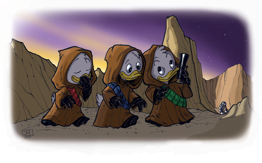 Huey, Dewey and Louie Jawas by Hodges-Art