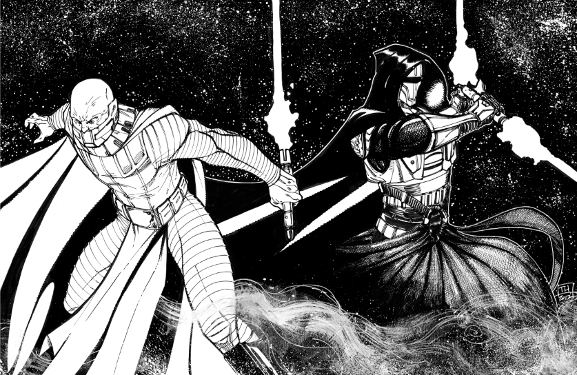 Darth Malak and Darth Revan Inks by Hodges-Art
