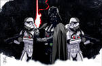 Lord Vader and His Troopers: STAR TOURS Variant
