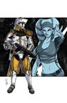 Commanders and Generals: Bly and Aayla Color