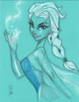 Elsa from FROZEN commission