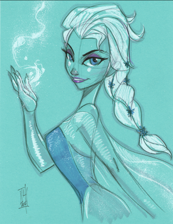 Elsa from FROZEN commission by Hodges-Art
