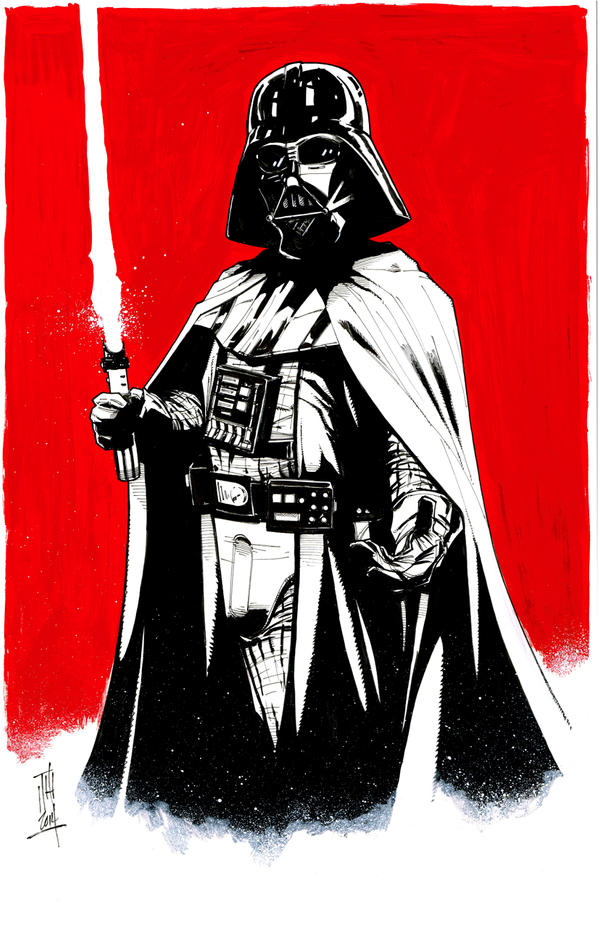 Darth Vader (inks) by Hodges-Art