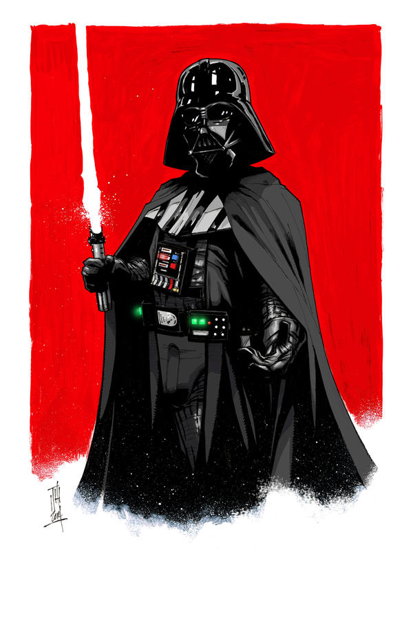 Darth Vader 1-9-2014 by Hodges-Art