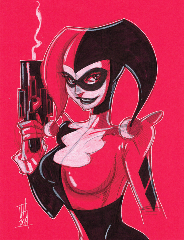 Warm Up 1-13-14, Harley Quinn by Hodges-Art