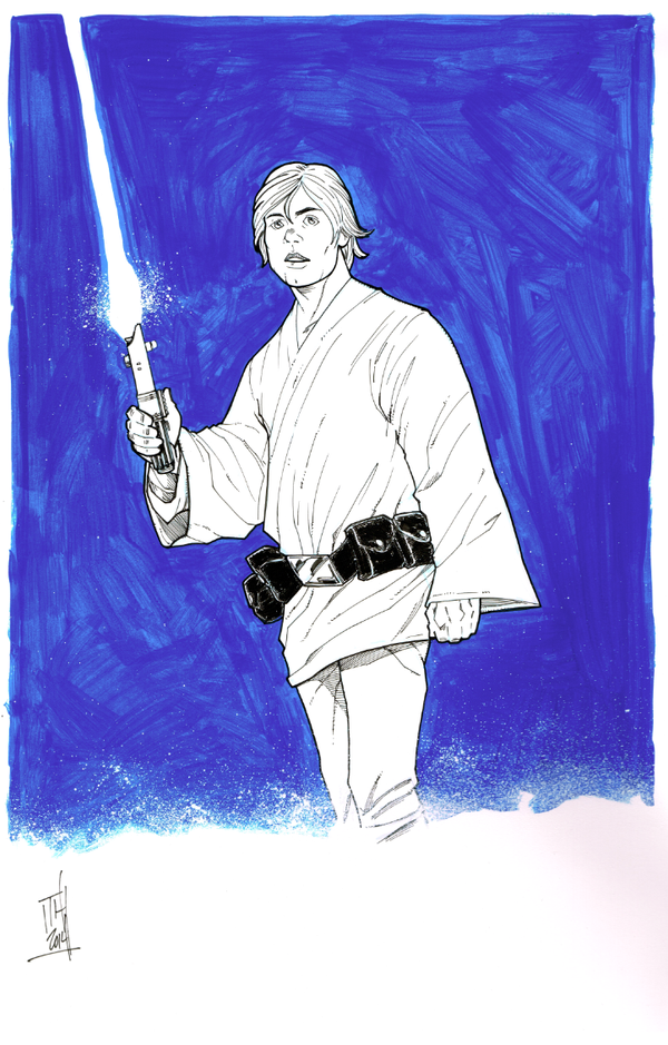 Luke Skywalker inked by Hodges-Art