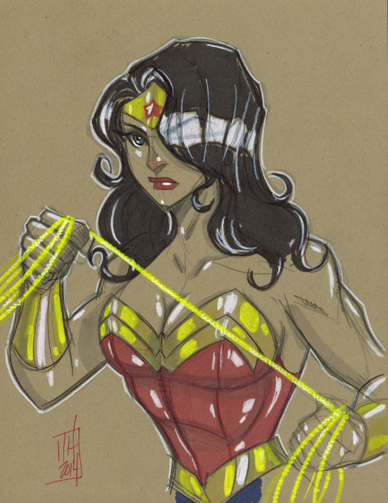 Warm Up 1-16-2014 Wonder Woman by Hodges-Art
