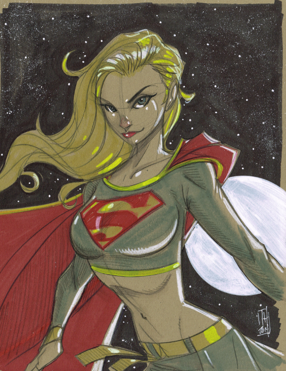 Warm Up 1-17-2014 Supergirl by Hodges-Art