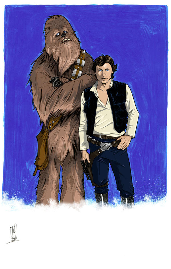 Han and Chewie color by Hodges-Art