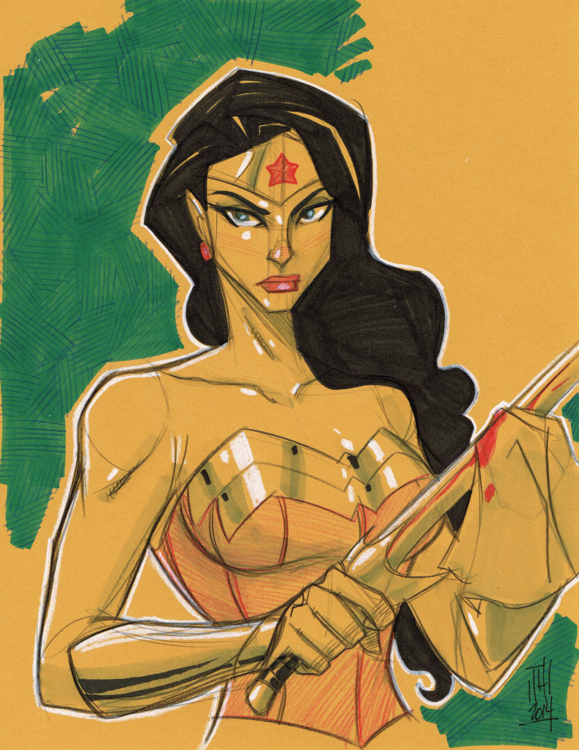 Warm Up 2-12, Wonder Woman by Hodges-Art