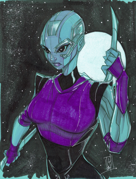 Warm Up 2-20, Nebula from GotG Movie Version by Hodges-Art