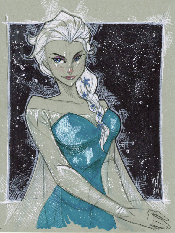 Warm Up 2-28, Elsa from FROZEN by Hodges-Art