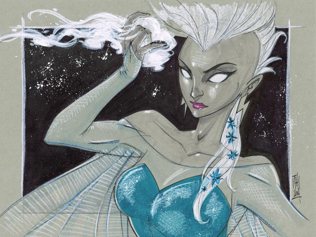 Storm as Elsa, X-Men-Frozen Mash Up by Hodges-Art