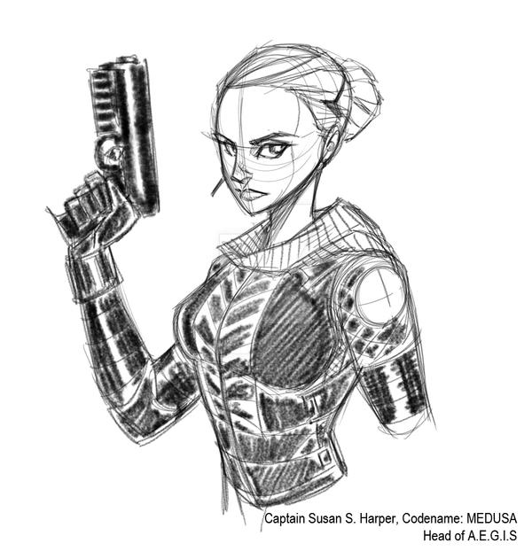 Captain Harper Codename: Medusa by Hodges-Art