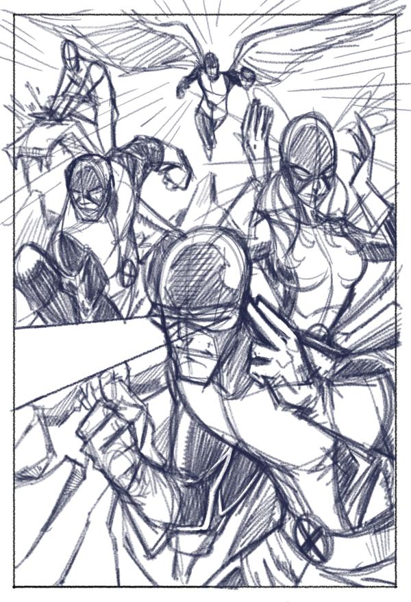 Classic X-Men (Rough Prelim) by Hodges-Art