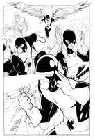 Classic X-Men inked by Hodges-Art