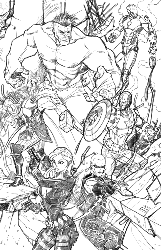 The Avengers (Finished pencils) by Hodges-Art
