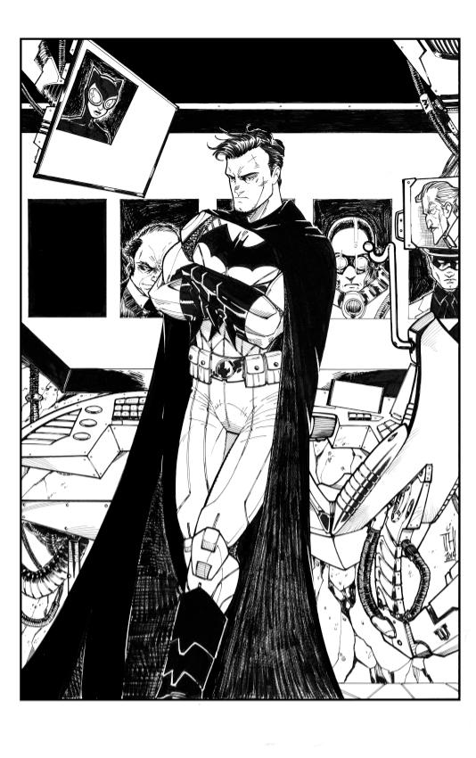 Batman 75th Tribute (ink version) by Hodges-Art