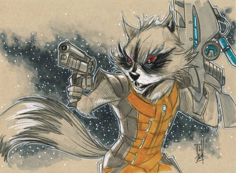 Rocket Raccoon Daily Sketch 5-14-2014