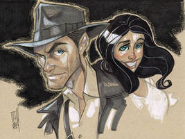 Indy and Marion by Hodges-Art