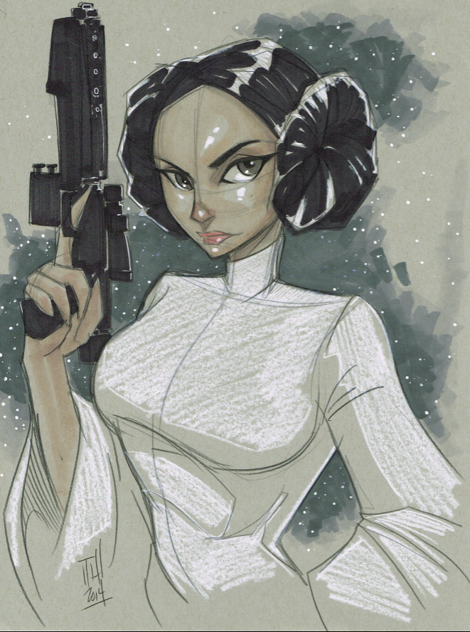 Princess Leia Organa by Hodges-Art