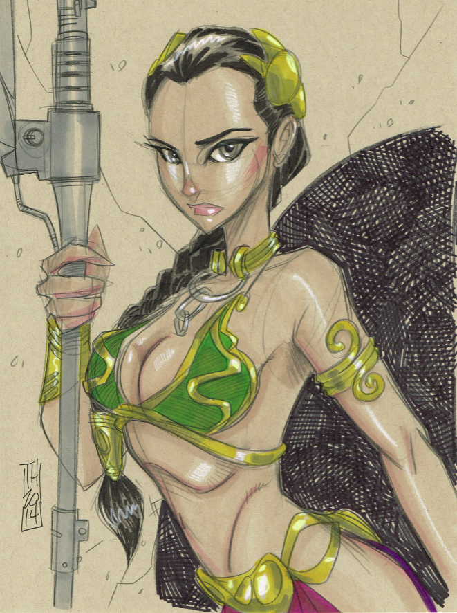 Slave Leia by Hodges-Art