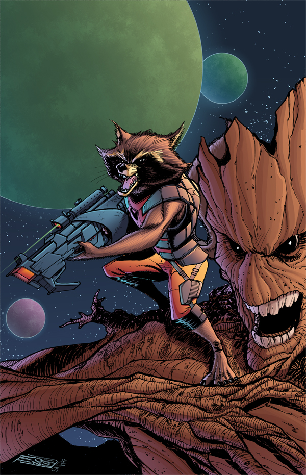 Rocket and Groot by Hodges-Art
