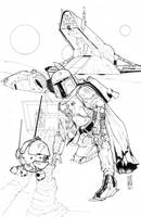 The Droids I'm Looking For Pencils and Inks by Hodges-Art