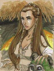 Princess Leia: Ewok Village by Hodges-Art
