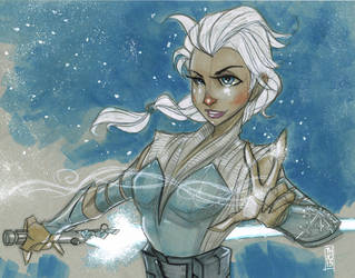 Jedi Master Elsa by Hodges-Art