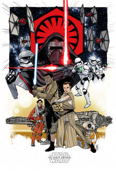 Star Wars The Force Awakens print