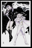 Team Up: Jolt and Emma Frost by Hodges-Art