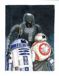 Droid Family Portrait by Hodges-Art