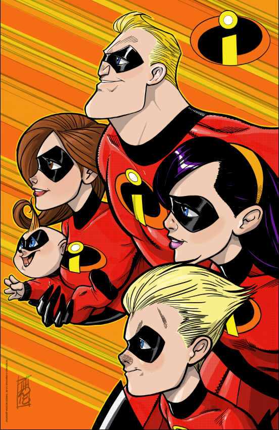 The Incredibles by Hodges-Art
