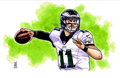 Carson Wentz by Hodges-Art