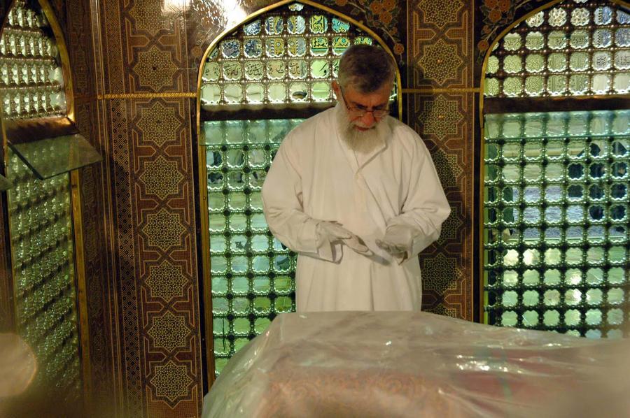 Emam Reza Shrine-emam khamenei by time-of-new-moon