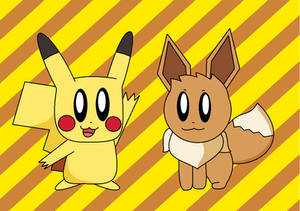 Pikachu and Eevee