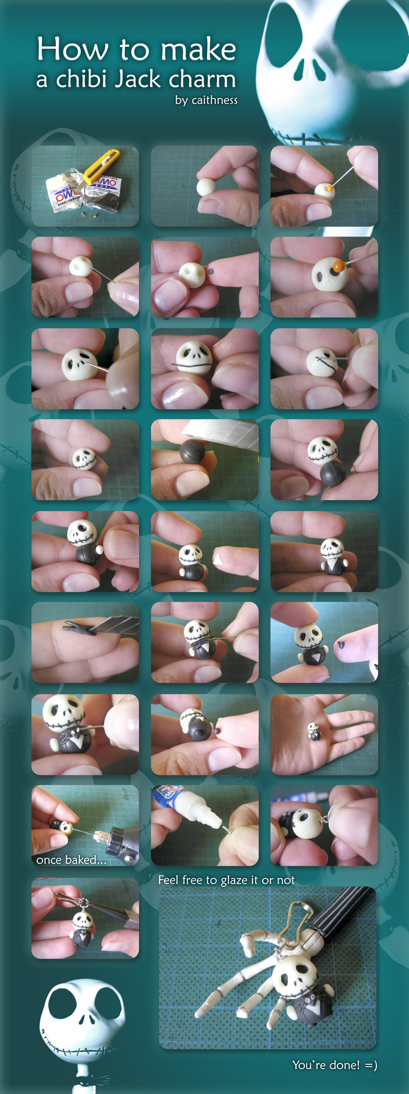 How to make a chibi jack charm by caithness-shop
