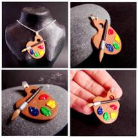 Colorful palette - pendant by caithness-shop