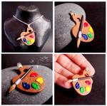 Colorful palette - pendant