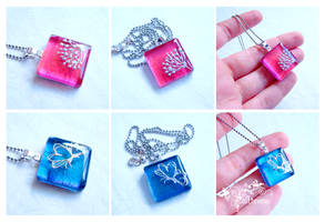 Glass and resin necklaces by caithness-shop