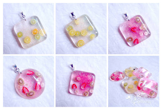 Fruit salad mix pendants